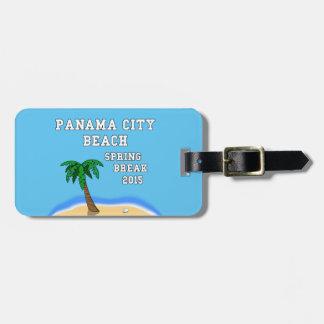 Etiqueta 2015 del equipaje de la playa de ciudad