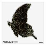 Etiqueta 2 de la pared del estampado leopardo