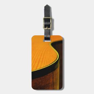 Etiqueta 2 del equipaje de la guitarra acústica etiquetas maleta
