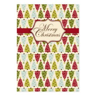 Etiqueta 2 del regalo del bosque del navidad tarjetas de visita grandes