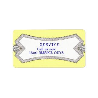 Etiqueta 3 de la reparación del servicio del etiquetas de dirección