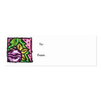 Etiqueta 3 del navidad tarjetas de visita mini