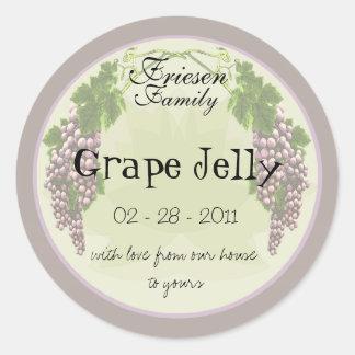 Etiqueta 3b de la jalea de uva