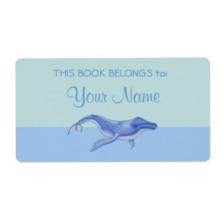 Etiqueta a solas del pegatina del Bookplate de la Etiqueta De Envío