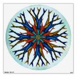 Etiqueta abstracta colorida de la rueda de Koi Dha