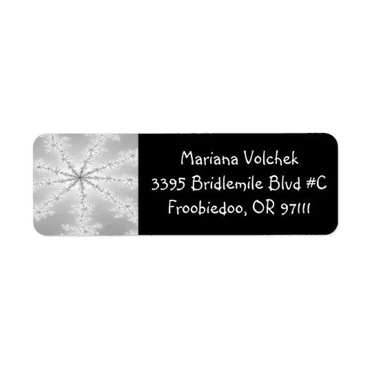 Etiqueta abstracta de plata del remite del copo de etiquetas de remite