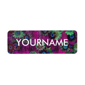 Etiqueta abstracta del nombre del estampado de etiqueta de remitente