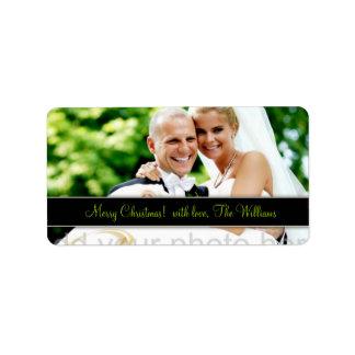 Etiqueta adaptable de 311 navidad del recién casad etiquetas de dirección