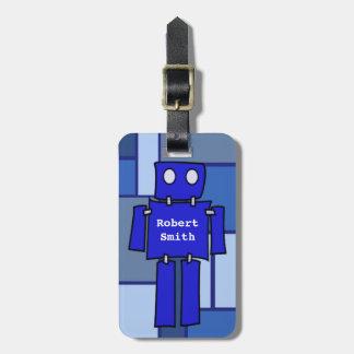 Etiqueta adaptable de la escuela del robot etiqueta para maleta