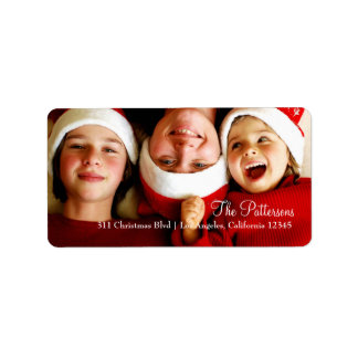 Etiqueta adaptable de la foto de 311 navidad etiqueta de dirección