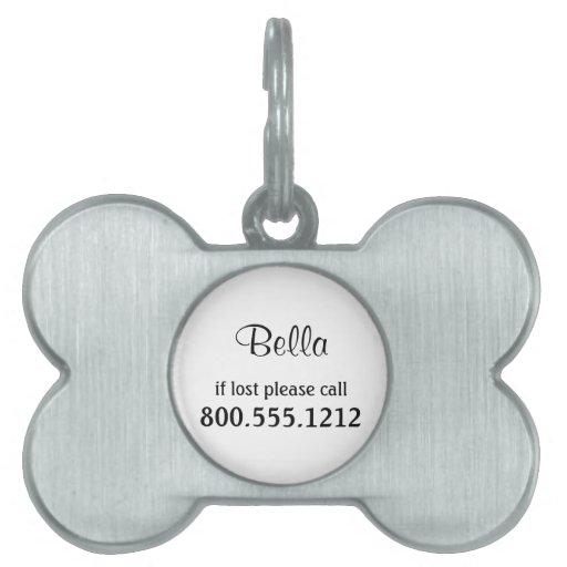 Etiqueta adaptable de la identidad del mascota placa de nombre de mascota