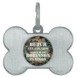 Etiqueta adaptable de la identificación del perro  placas de mascota