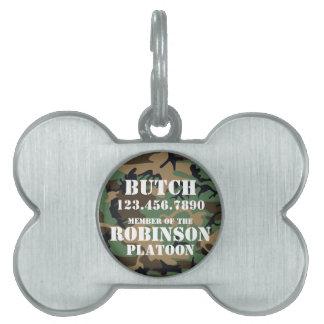 Etiqueta adaptable de la identificación del perro  placa mascota