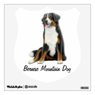 Etiqueta adaptable de la pared del perro de montañ vinilo adhesivo