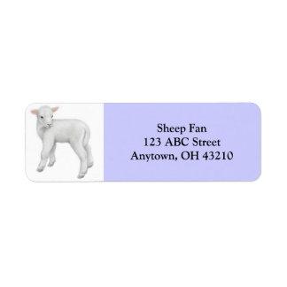 Etiqueta adaptable del pequeño cordero etiqueta de remitente