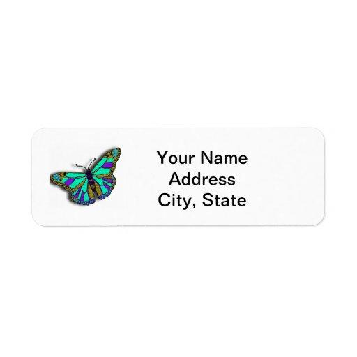 Etiqueta adaptable del remite de la mariposa etiquetas de remite