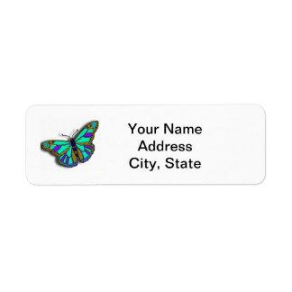 Etiqueta adaptable del remite de la mariposa etiqueta de remitente