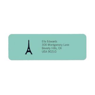 Etiqueta adaptable del remite de París Etiqueta De Remite