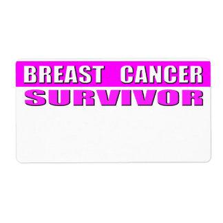 Etiqueta adaptable del superviviente del cáncer de etiquetas de envío