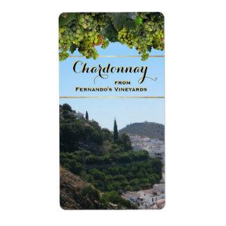 Etiqueta adaptable del vino de Chardonnay Etiqueta De Envío