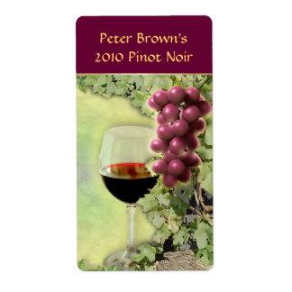 Etiqueta adaptable del vino etiquetas de envío