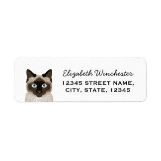 Etiqueta adaptable linda del remite del gato etiquetas de remite