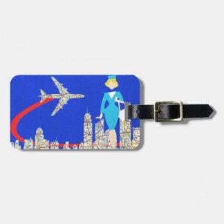 Etiqueta adaptable retra del equipaje del etiquetas para equipaje