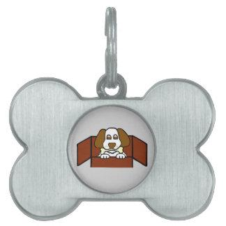 Etiqueta adorable del mascota del hueso del placas de mascota