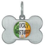 Etiqueta afortunada del mascota del irlandés placa mascota
