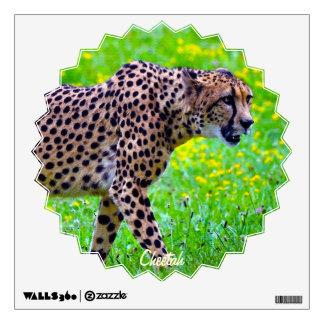 Etiqueta africana de la pared de la fauna del guep
