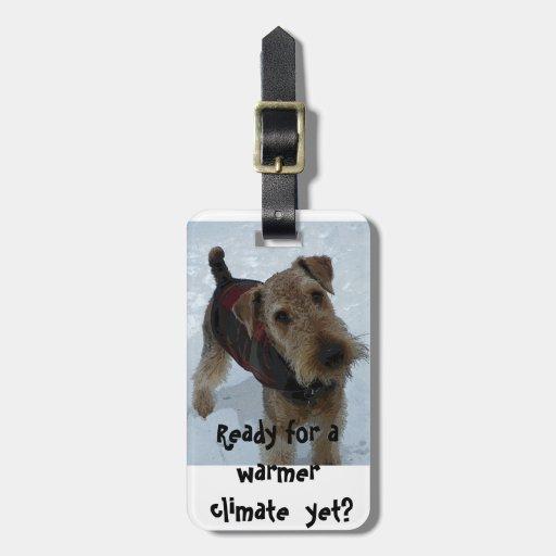 Etiqueta Airedale Terrier del equipaje Etiquetas Maleta
