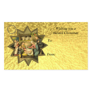Etiqueta alemana antigua de la tarjeta de regalo tarjetas de visita