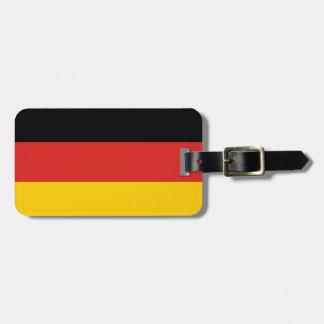 Etiqueta alemana del equipaje de la bandera etiquetas maleta