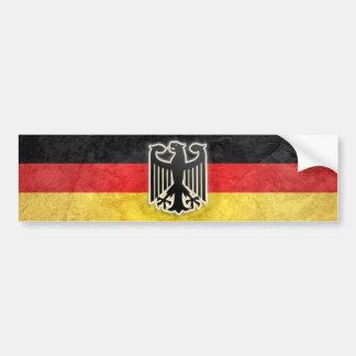 Etiqueta alemana del escudo de Eagle del Grunge de Pegatina De Parachoque