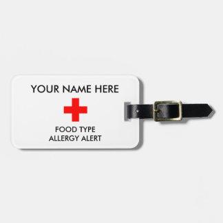Etiqueta alerta de la alergia ID/ICE Etiqueta Para Maleta