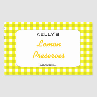 Etiqueta amarilla de los cotos del limón de la