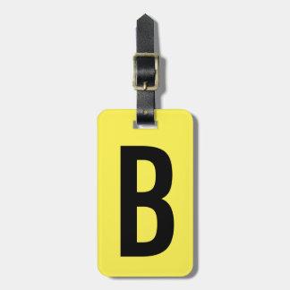 Etiqueta amarilla de neón colorida del equipaje