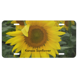 ETIQUETA amarilla del COCHE del girasol de Kansas Placa De Matrícula