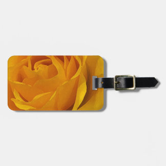 Etiqueta amarilla del equipaje de los pétalos colo etiquetas maleta