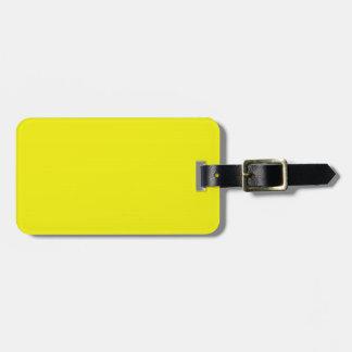 Etiqueta amarilla del equipaje etiquetas de maletas