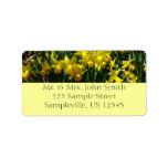 Etiqueta amarilla del remite de los narcisos etiqueta de dirección