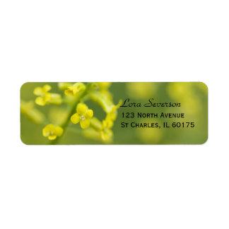 Etiqueta amarilla del remite de los Wildflowers Etiqueta De Remitente