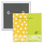 Etiqueta amarilla y verde /Gift del nombre del cor Pin