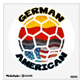 Etiqueta americana alemana de la pared del balón d