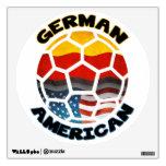 Etiqueta americana alemana de la pared del balón vinilo adhesivo