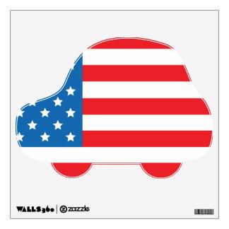 Etiqueta americana de la pared del transporte