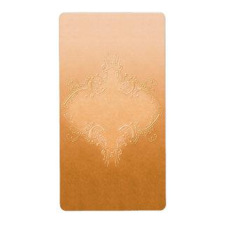 Etiqueta anaranjada bonita del boticario etiquetas de envío