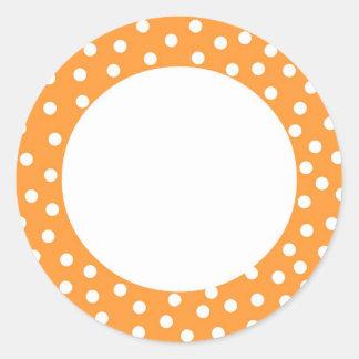 Etiqueta anaranjada del lunar