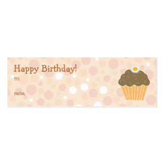 Etiqueta anaranjada del regalo de la magdalena tarjetas de negocios