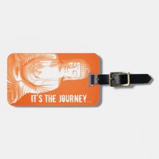 etiqueta anaranjada moderna del pozo del viaje de  etiqueta para maleta